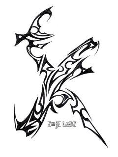 Letter K by Zaje LaBZ by Awesome Letter K