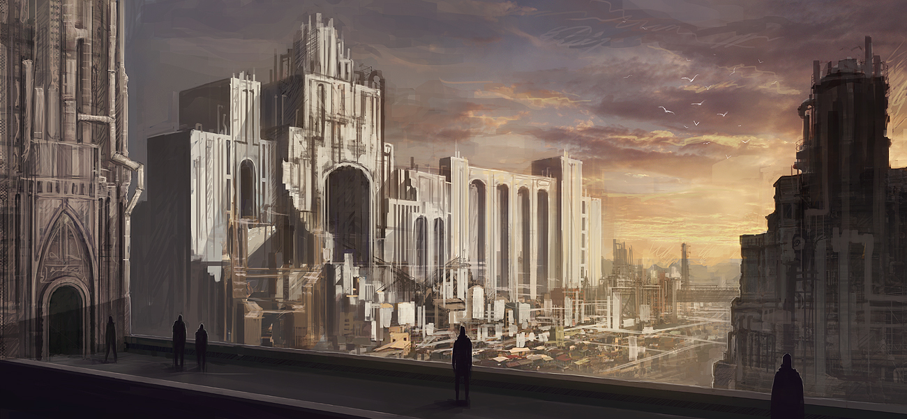 Steampunk City Concept by mrNepa