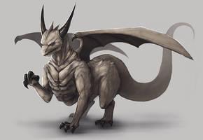 Black Horn Dragon by mrNepa