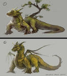 earth/nature dragon sketches