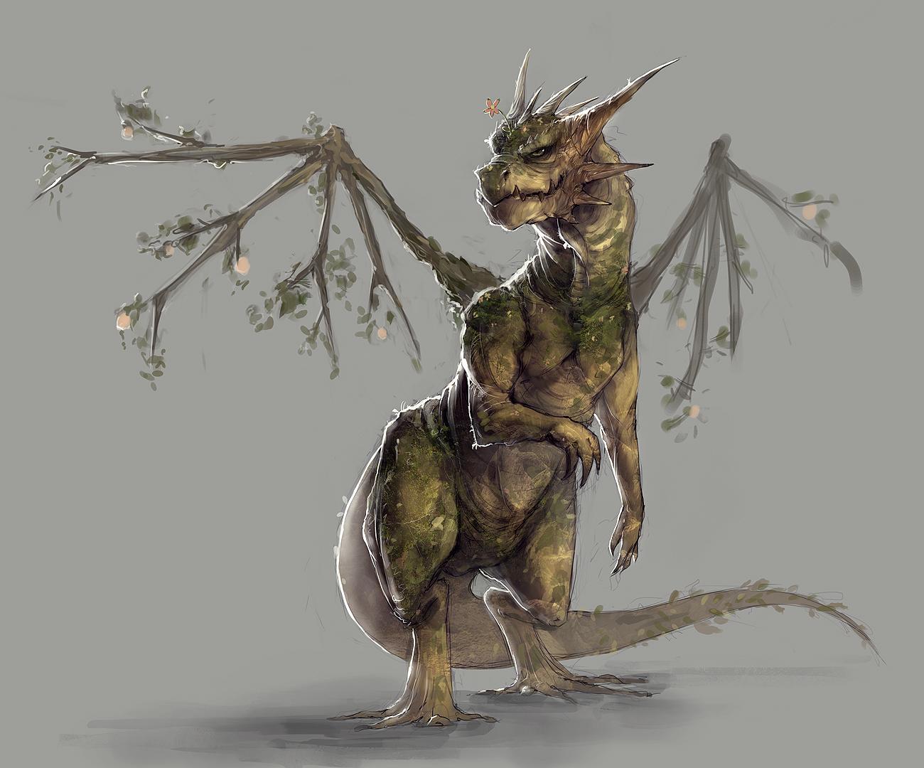Earth Dragon: Earth/nature Dragon By MrNepa On DeviantArt