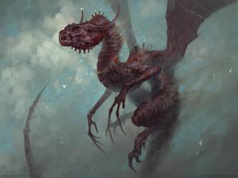 Scrap metal dragon by mrNepa