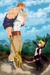 Meliodas vs Escanor - Estilo Anime