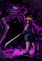 Meliodas vs  Demon King -NNT by CrisZeldris1
