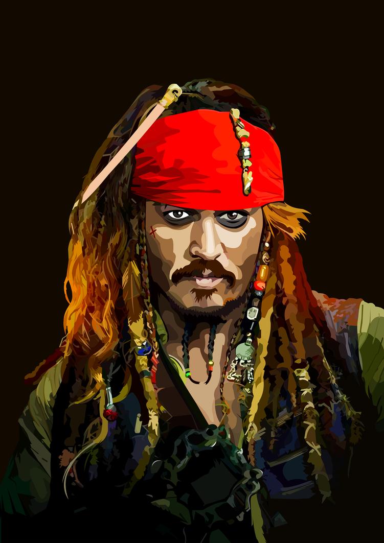 captain jack sparrow vectorelviranl on deviantart