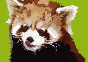 Red Panda Vector by elviraNL