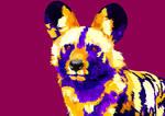 Wild dog vector
