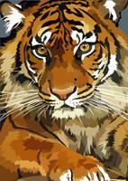 Awesome tiger by elviraNL