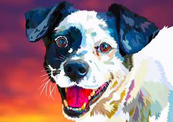 Happy Dog - Your loyal friend by elviraNL