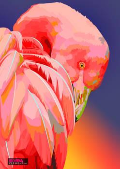 Flamingo Vector by elviraNL