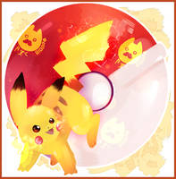 Pikachu // Pokemon let's go Pikachu by BloomWaterfall