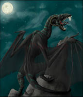 A Black Dragon by DargonXKS