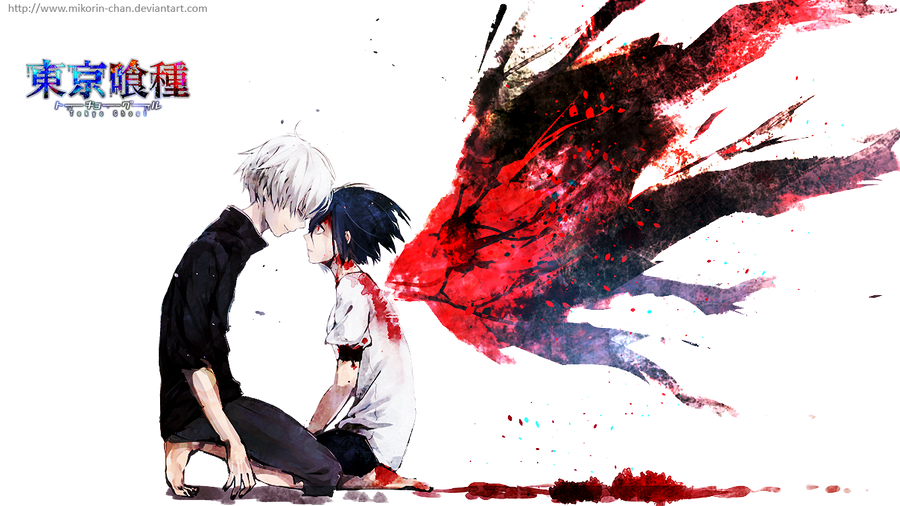 Les petits graphismes de Tegami ! - Page 7 Tokyo_ghoul___kaneki_and_touka_render_by_mikorin_chan-d80g7a7