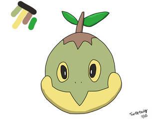 Turtwig head drawing by Turtletwig
