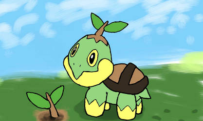 Turtwig + Sprout by Turtletwig