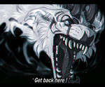 'Get back here ! ' by Velkss