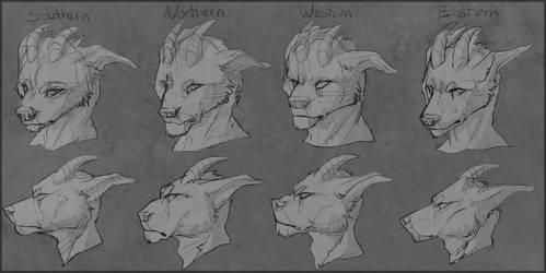 Arcanus races concept art
