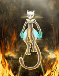 Mewtwo - Genetic Pokemon Escaping Team Rocket