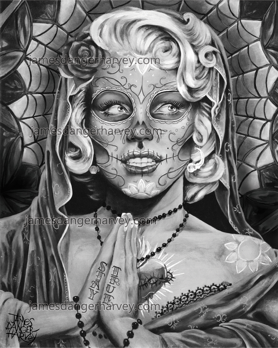 Dod Grey Day Of The Dead Marilyn Monroe By