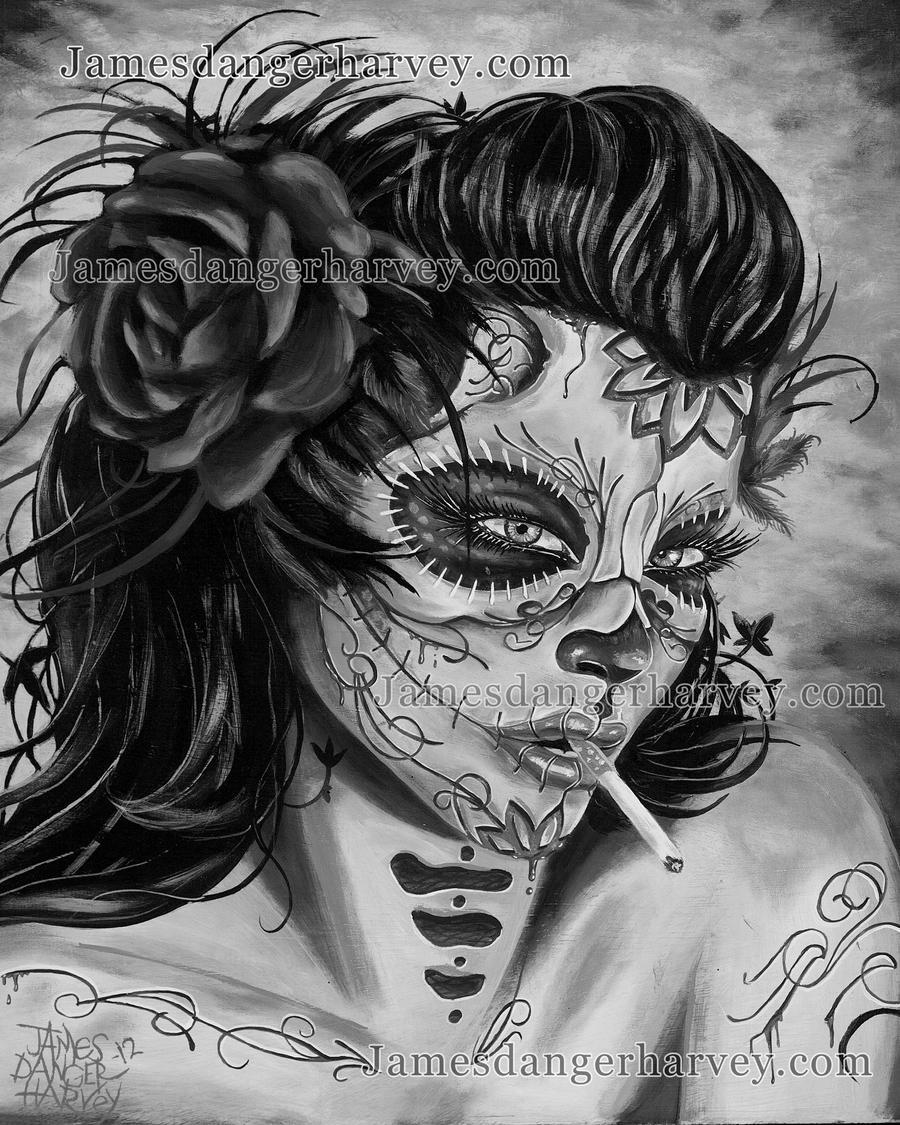 Jamesdangerharvey Desi Grey Day Of The Dead Zombie By