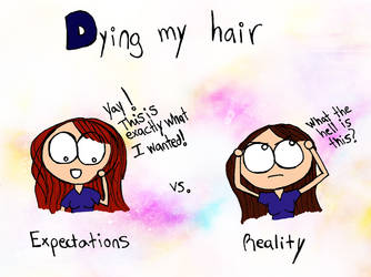 Dying my hair by luartandcomics