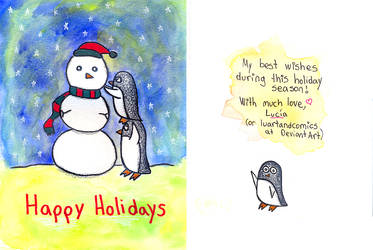 Holiday Card Project 2013 by luartandcomics