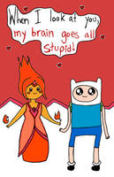 Flame Princess and Finn by luartandcomics
