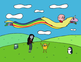 Adventure Time with Kirby by luartandcomics