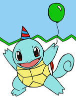 Birthday Squirtle by luartandcomics