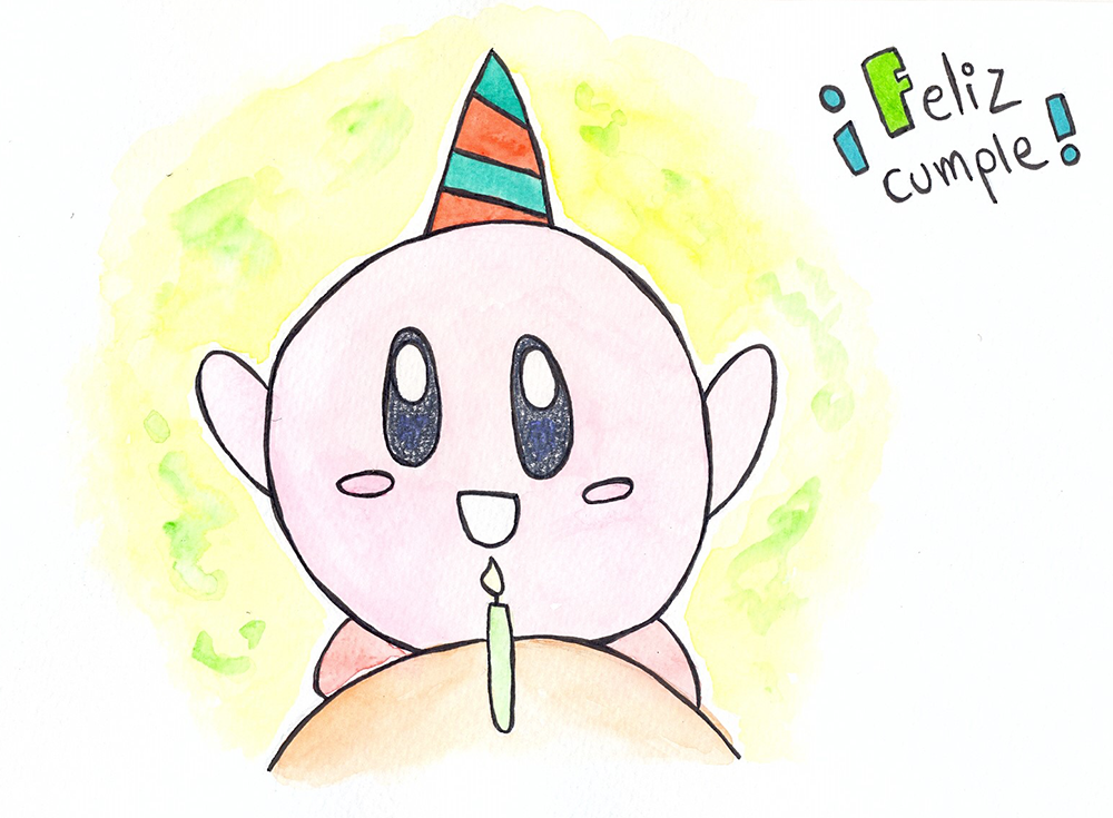 Birthday Kirby by luartandcomics