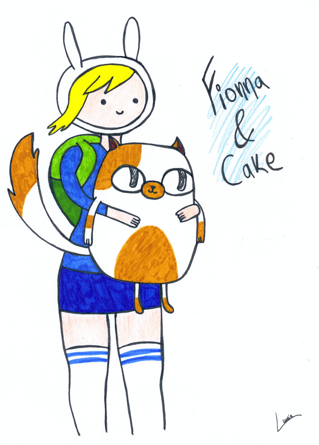 Fionna and Cake by luartandcomics