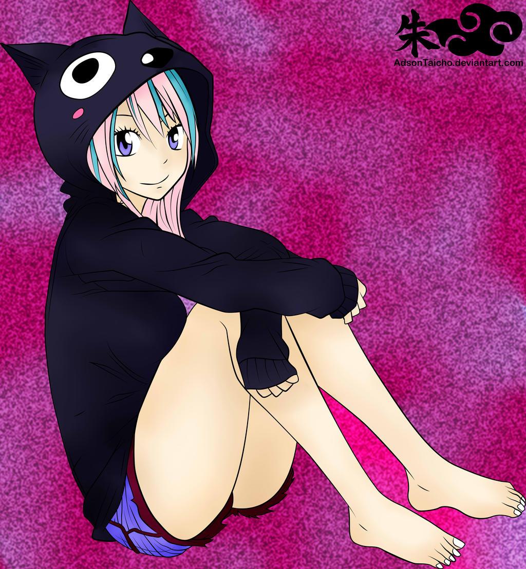 Fairy Tail   Lucy Heartilia Happy Outfit by xxPandora-Shiorixx