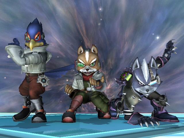 SSBB - Fox  Falco  Wolf by ZakcaFalco Ssbb Drawings