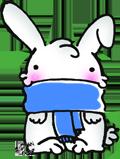 Cute winter bunny by Rizeru-chan
