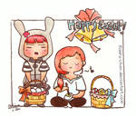 Happy cute Easter