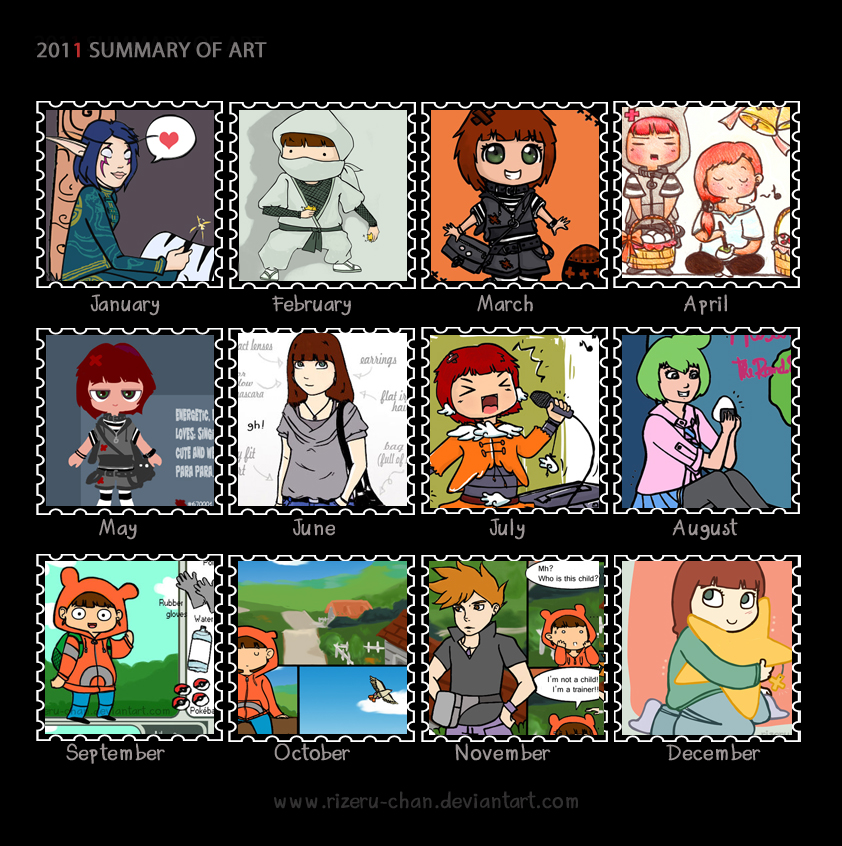 2011 summary of art by Rizeru-chan