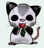 Opossum eats by Rizeru-chan
