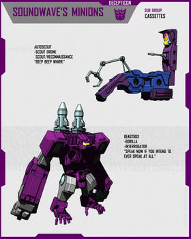 SOUNDWAVE'S MINIONS (1of22)