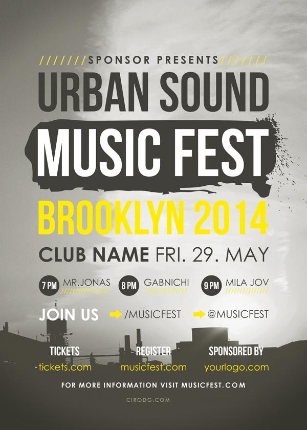 Urban Sound Music Fest Flyer by CIROdg