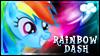Rainbow Dash Stamp v2 by jewlecho