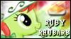 Ruby Rhubarb Stamp by jewlecho
