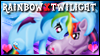 Rainbow x Twilight Stamp by jewlecho