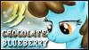 Chocolate Blueberry Stamp by jewlecho
