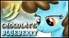Chocolate Blueberry Stamp by jewlecho