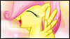 Fluttershy Filly Stamp by jewlecho