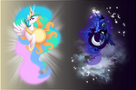Princess Celestia and Luna Shirt Designs