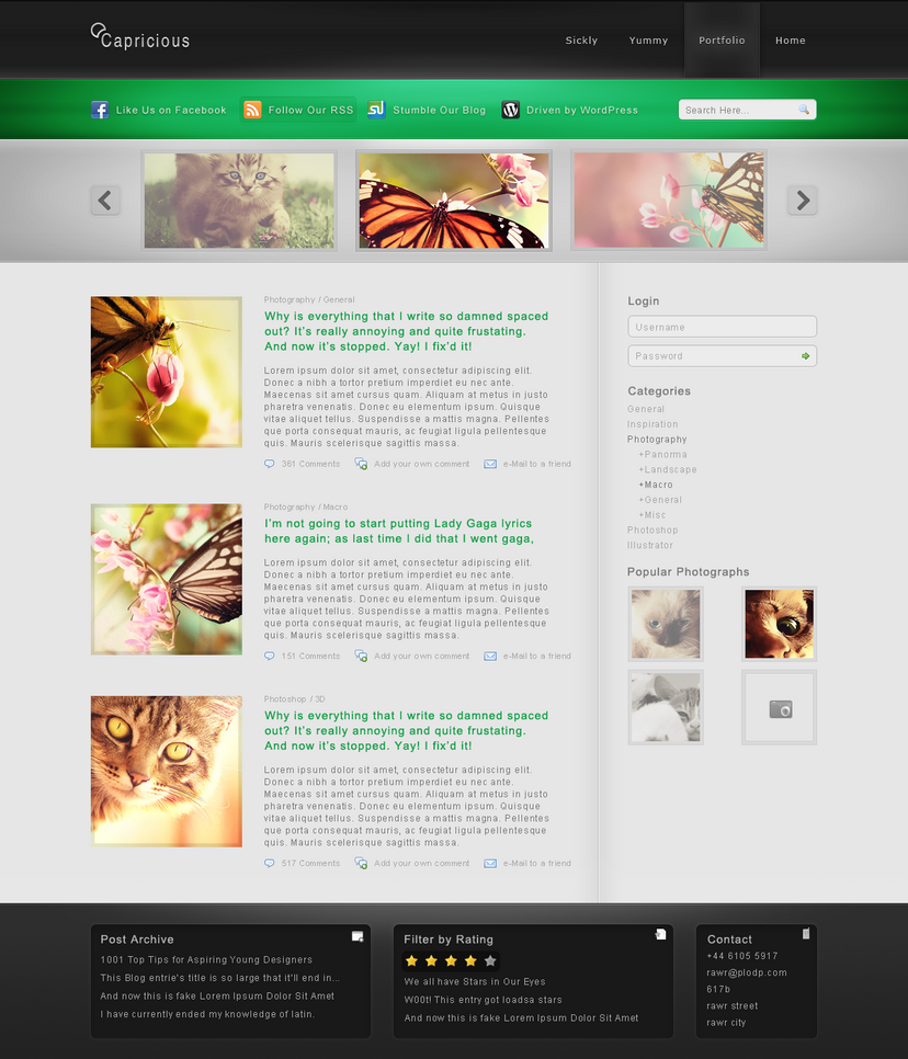 capricious by iiipod d30y9bb Web Design Inspiration: Inspiring and Creative Web Interface Designs