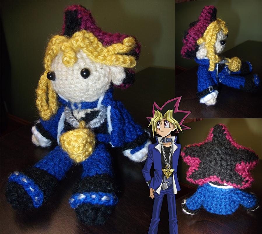 Crochet Yugi Mutou by SorceressofMalice
