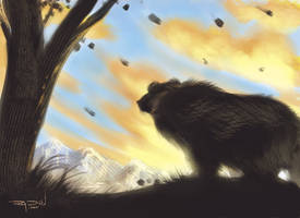 Bear Silhouette - speed paint by RayDillon