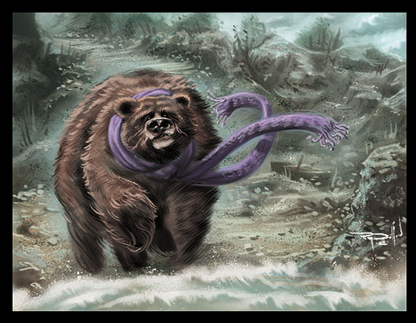 Scarf Bear Concept Painting by RayDillon